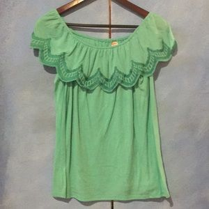Girls Green Blouse